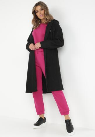 Czarny Płaszcz Celasis