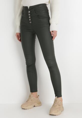 Ciemnozielone Spodnie Skinny Petreus