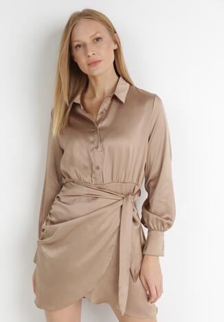 Ciemnobeżowa Sukienka Aegime