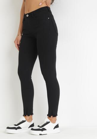 Czarne Spodnie Skinny Nyryore