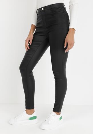 Czarne Spodnie Skinny Phyneo