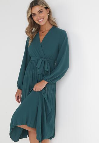 Ciemnozielona Sukienka Mesyre