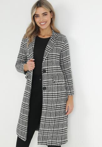 Biało-Czarny Płaszcz Hephelle