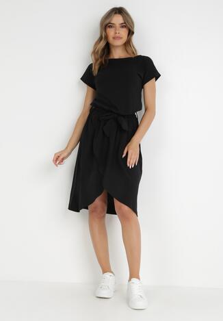 Czarna Sukienka Yenane