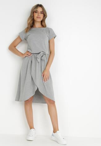 Szara Sukienka Yenane