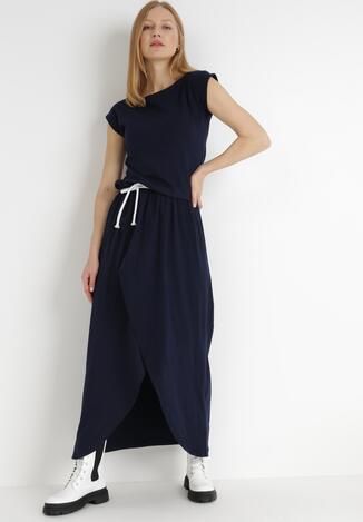 Granatowa Sukienka Feriane