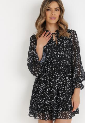Czarno-Biała Sukienka Ralobanise