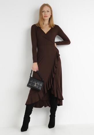 Brązowa Sukienka Verial