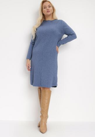 Niebieska Sukienka Dzianinowa Anastassa