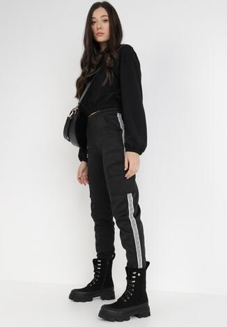 Czarne Spodnie Dresowe Antyse