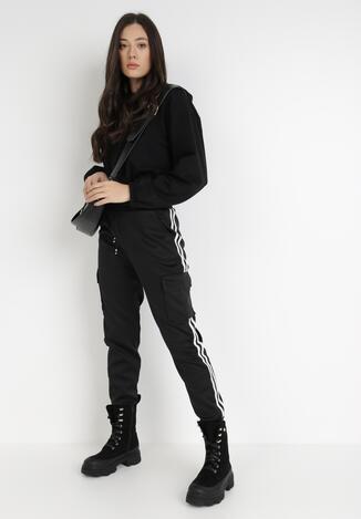 Czarne Spodnie Dresowe Klymiore