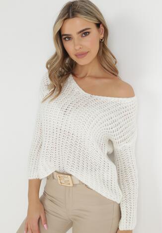 Biały Sweter Amarherine