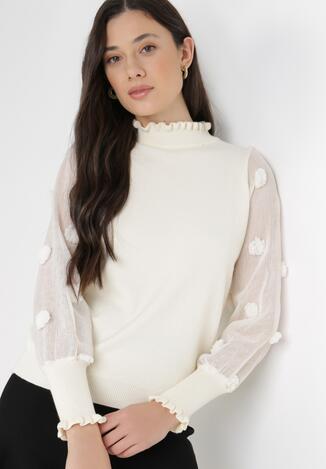 Kremowy Sweter Feanaphe