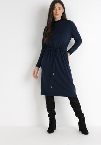 Granatowa Sukienka Argassa