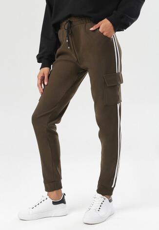 Ciemnozielone Spodnie Corrarea