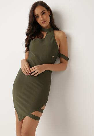 Ciemnozielona Sukienka Lagulyn