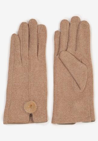 Beżowe Rękawiczki Norkaen