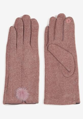 Ciemnoróżowe Rękawiczki Norkaen