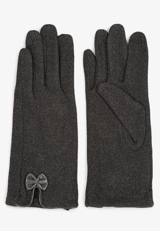 Ciemnoszare Rękawiczki Madehana