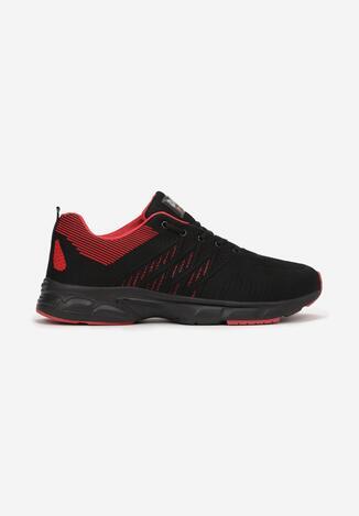 Czarno-Czerwone Buty Sportowe Arriedine