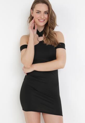 Czarna Sukienka Saphosa