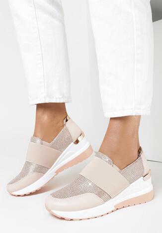 Różowe Sneakersy Pisiphine