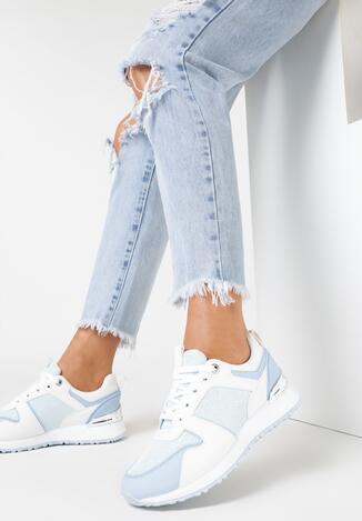 Biało-Niebieskie Sneakersy Jynoris