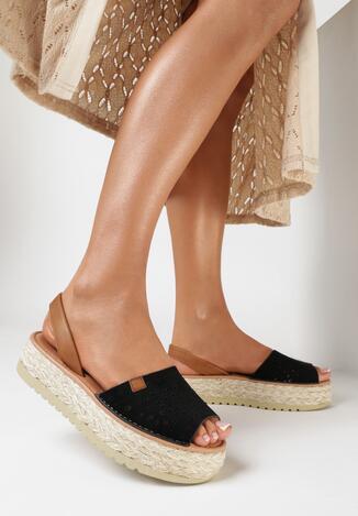 Czarne Sandały Genineva