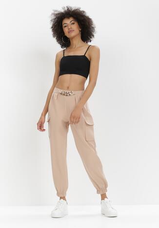 Beżowe Spodnie Nyxanise