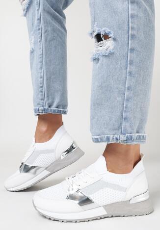 Białe Buty Sportowe Savarophe