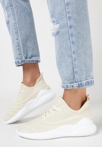 Beżowe Sneakersy Syneilla