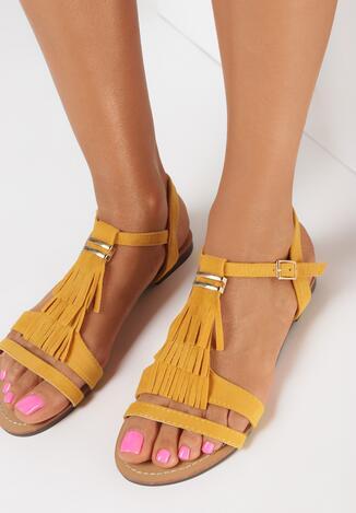 Żółte Sandały Arista
