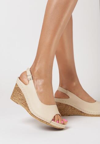 Beżowe Sandały Alethreasi