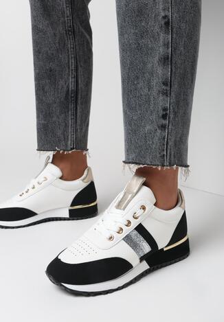 Biało-Czarne Buty Sportowe Bennettia