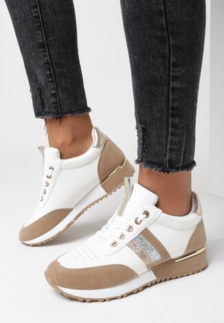 Biało-Brązowe Buty Sportowe Bennettia