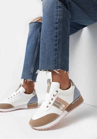 Biało-Złote Buty Sportowe Bennettia