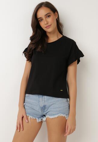Czarny T-shirt Flamegan