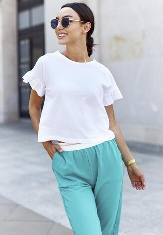 Biały T-shirt Flamegan