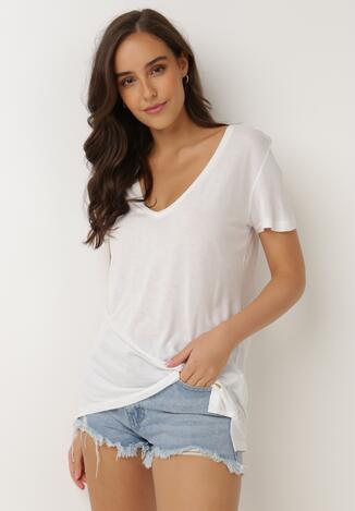 Biały T-shirt Leucelsa
