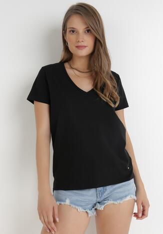 Czarny T-shirt Leucelsa