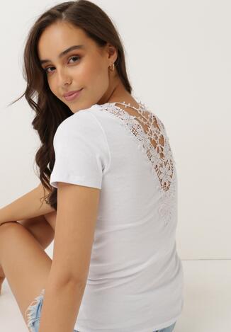 Biały T-shirt Aodola