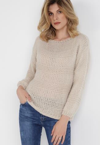 Ciemnobeżowy Sweter Zhatina