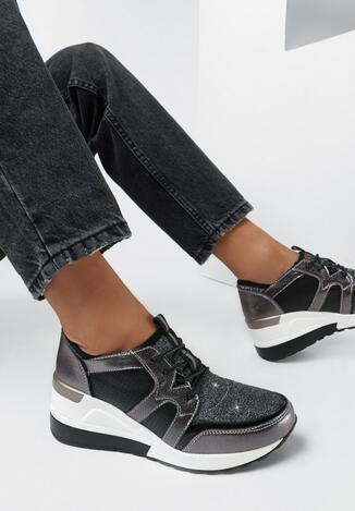 Srebrne Sneakersy Helamia