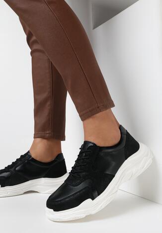 Czarne Sneakersy Tyriene