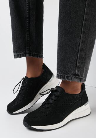 Czarne Sneakersy Ureris
