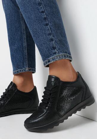 Czarne Sneakersy Lorialle