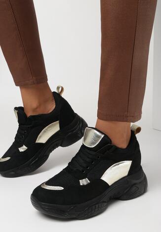 Czarne Sneakersy Nysarge