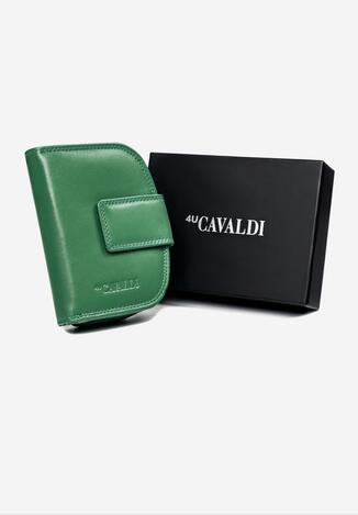 Ciemnozielony Skórzany Portfel Cavaldi Marcaemon