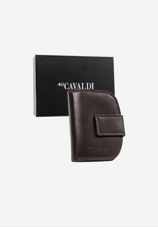 Ciemnobrązowy Skórzany Portfel Cavaldi Marcaemon