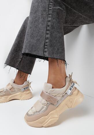 Beżowe Sneakersy Olivis